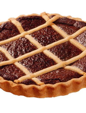 Torta coi bischeri, crostata con riso e cioccolato