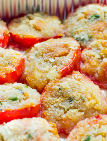 Pomodori gratinati al forno alla romagnola