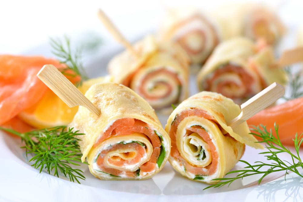 Crepes salate al salmone