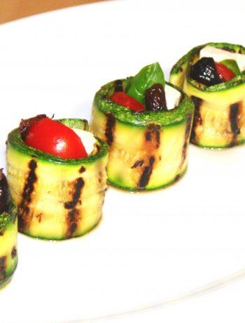 Involtini di zucchine grigliate